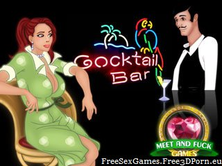 Fuck sexy girls in a cocktail bar browser game