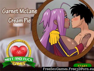 Garnet Cream Pie in cartoon sex game