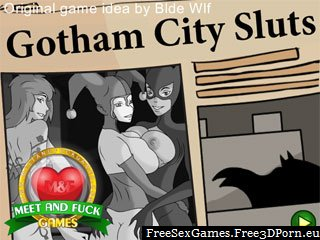 Gotham City Sluts with Batman and cartoon sex