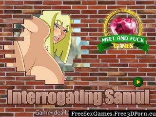 Interrogating Samui fetish game with bondage sex