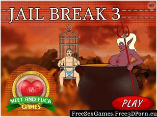 Jail Break 3 fetish porn game with prison sex