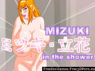 Mizuki Shower game with sexy shower fuck
