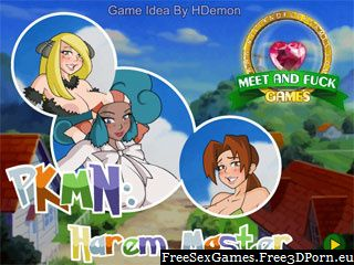 PKMN: Harem Master adult flash game with erotic sex