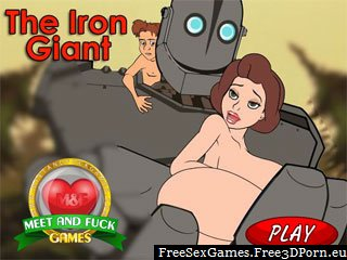 The Iron Giant sex game with a mobile cartoon porn
