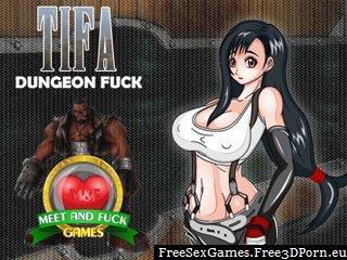 Tifa Dungeon Fuck in final fantasy manga porn game