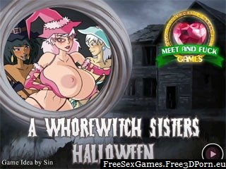 Flash porn game - Whorewitch sisters halloween